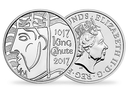 The 1000th Coronation of King Canute 2017 UK £5 Proof Silver Coin