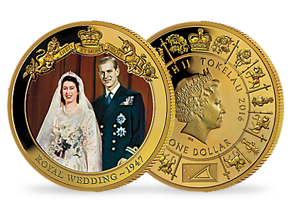 Queen Elizabeth II Gold Plated Coin Collection