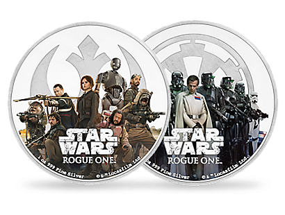 Star Wars: Rogue One 2017 1oz Silver Coins