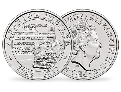 The Sapphire Jubilee Of Her Majesty The Queen 2017 United Kingdom £5 Brilliant Uncirculated Coin
