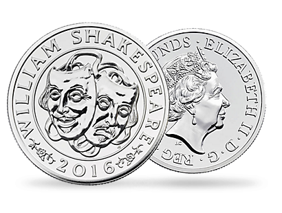 The Shakespeare 2016 £50 Fine Silver Coin