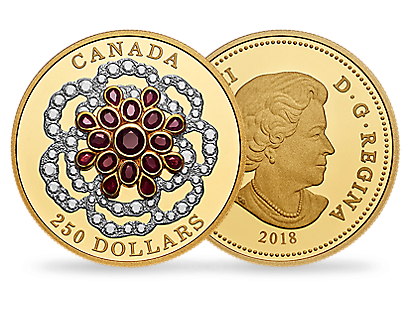 A Crown Jewel 2018 $250 Pure Gold Coin
