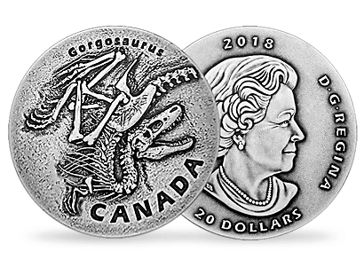 Ancient Canada - Gorgosaurus 2018 1oz Silver Coin
