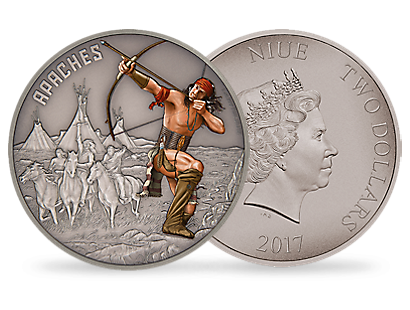 Warriors of History - Apache 1oz Silver Coin