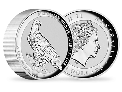 Australian Wedge-Tailed Eagle 2017 5oz Silver High Relief Coin