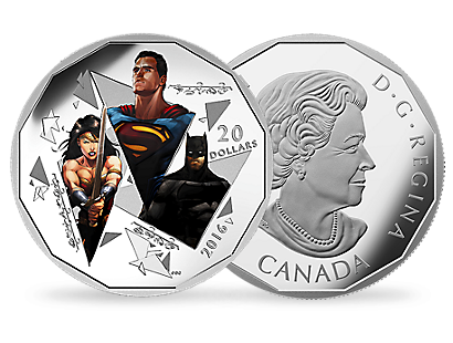 Batman v Superman: Dawn of Justice – The Trinity 2016 1 oz $20 Silver Coin