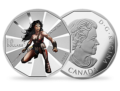Batman v Superman: Dawn of Justice - Wonder Woman 2016 $10 Fine Silver Coin