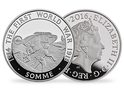100th Anniversary of The Battle of Somme 2016 UK £5 Silver Proof Coin