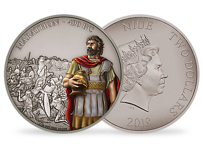 Battles That Changed History - The Battle of Marathon 2018 1oz Silver Coin