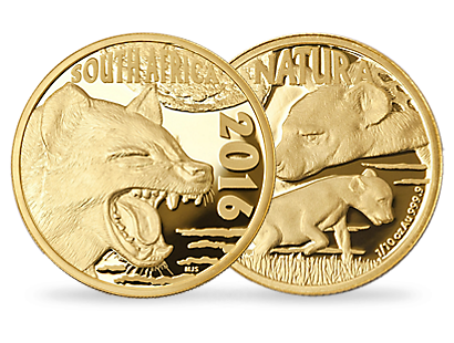 Nocturnal Hunters  - Spotted Hyena 1/10 oz 24 Carat Gold Coin