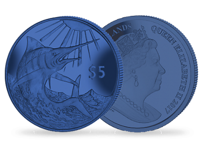 Blue Marlin - 2017 Blue Titanium Coin