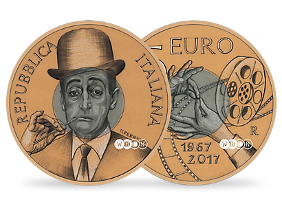 50th Anniversary of the Death of Totò €5 Coin