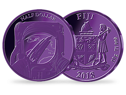 Space Travel 2018 Half Dollar Purple Titanium Coin