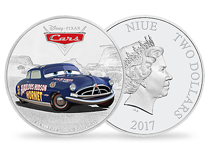 Disney•Pixar Cars - Doc Hudson 1oz Silver Coin