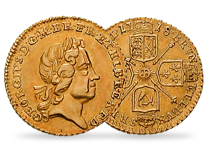 King George I Gold Quarter Guinea