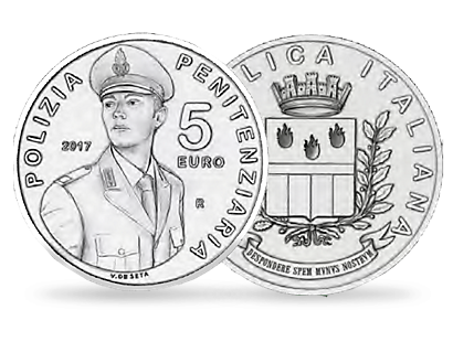 200th Anniversary of the Foundation of the Corps of the Prison Constabulary €5 Silver Coin
