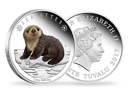 Polar Babies: Sea Otter 2017 1/2oz Silver Proof Coin