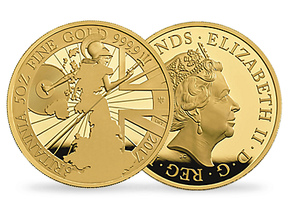 The Royal Mint Britannia 2017 5oz Gold Proof Coin