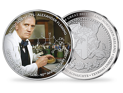 British Scientists: Sir Alexander Fleming Silver Plated Commemorative