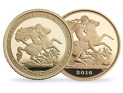 The Royal Mint 2016 & 2017 Gold Quarter-Sovereigns