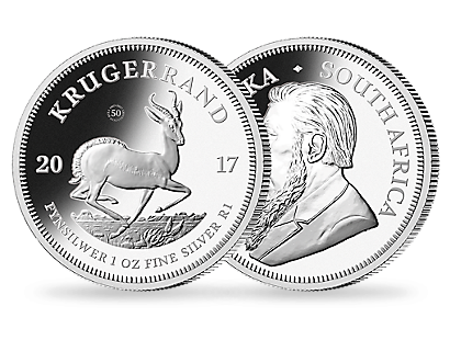 Krugerrand 2017 One-Ounce Premium Uncirculated Silver Coin