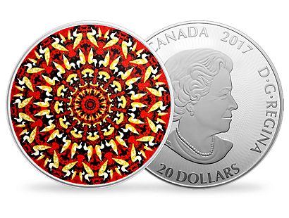 Canadiana Kaleidoscope - The Loon 1 oz. Pure Silver Coloured Coin