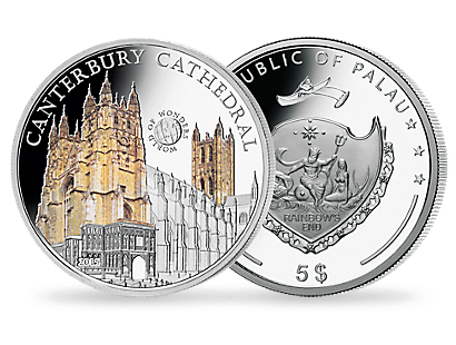 Canterbury Cathedral Silver Coin