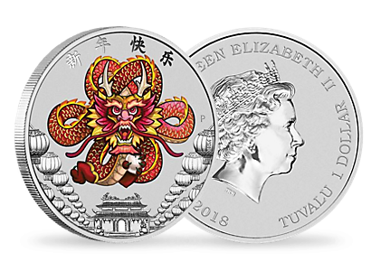 Chinese New Year Dragon 2018 1oz Silver Coin