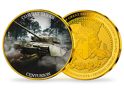 Combat Tanks Gold Plated Commemorative Collection