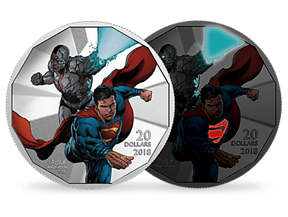 DC Comics The Justice League™: Cyborg and Superman 2018 $20 Fine Silver Coin