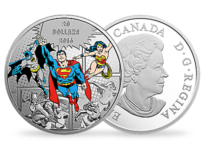 DC Comics Originals: The Trinity (2016) 1 oz. Pure Silver Coloured Coin