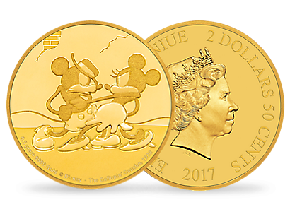 Mickey Through the Ages – 'The Gallopin' Gaucho' 0.5g Gold Coin