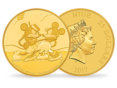 Mickey Through the Ages – 'The Gallopin' Gaucho' 1/4 oz Gold Coin