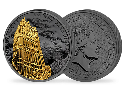 Golden Enigma - Big Ben 1 oz Silver Coin