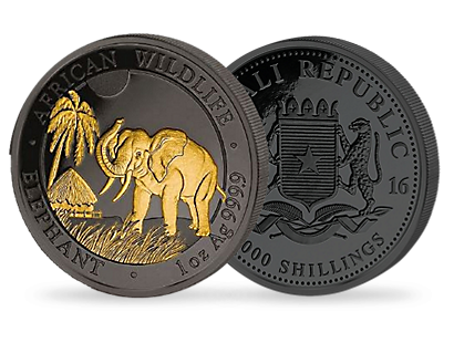 Golden Enigma - Elephant 1 oz Silver Coin