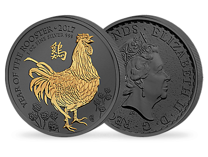 Golden Enigma - Year of the Rooster 2017 1oz Silver £2 Coin