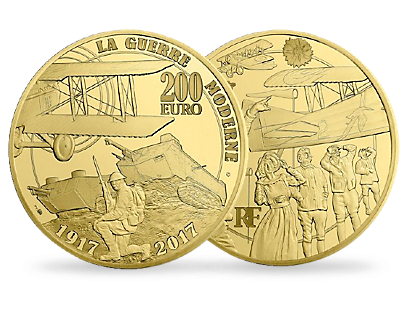 Modern Warfare - The Great War 2017 €200 1oz Gold Proof Coin