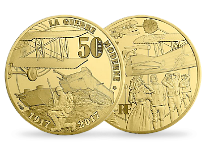 Modern Warfare - The Great War 2017 €50 1/4 oz Gold Proof Coin