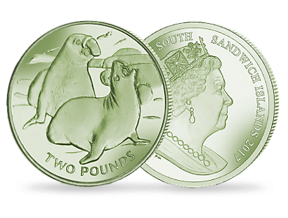 Elephant Seal - 2017 Green Titanium Coin