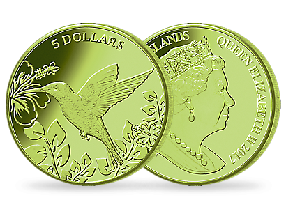 Hummingbird Green Titanium Coin