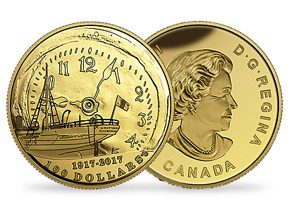 100th Anniversary of the Halifax Explosion $100 14-Karat Gold Coin