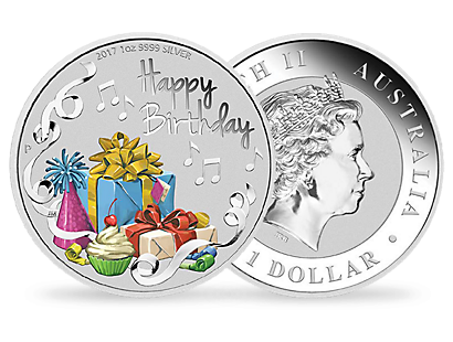 Happy Birthday 2017 1oz Silver Coin