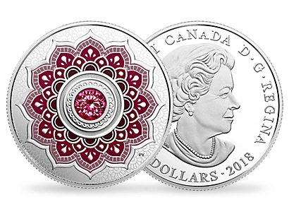 Birthstones: January 2018 $5 Fine Silver Coin