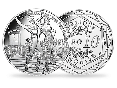 Jean Paul Gaultier 2017 - The Dancing Roussillon €10 Coin