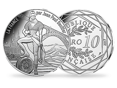 Jean Paul Gaultier 2017 - The Volcanic Auvergne €10 Coin