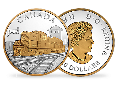 Locomotives Across Canada: RS 20 2017 $20 Fine Silver Coin