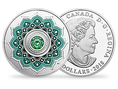 Birthstones - May 2018 $5 Fine Silver Coin