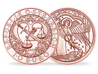 Guardian Angel Michael €10 Copper Coin
