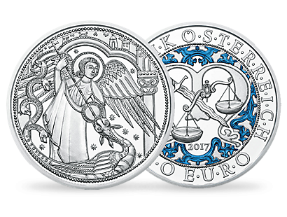 Guardian Angel Michael 10 Euro Proof Silver Coin