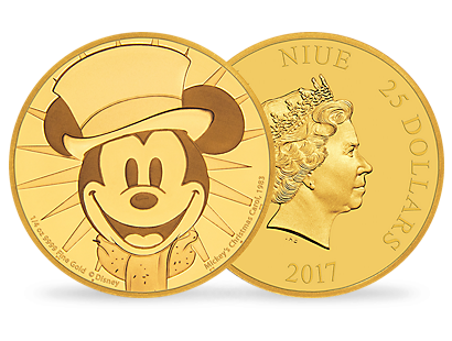 Mickey Through the Ages – 'Mickey's Christmas Carol' 1/4 oz Gold Coin